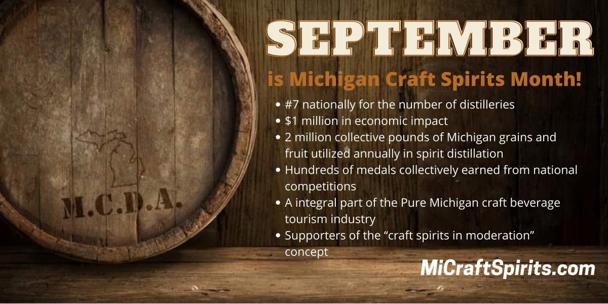 "September Named ""Michigan Craft Spirits Month"""